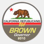 BROWN Governor Sticker