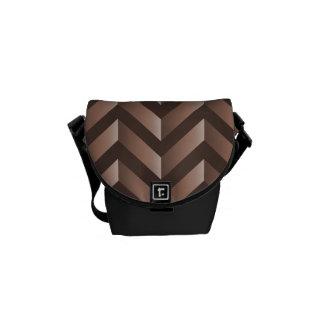 Brown Gradient Chevron Courier Bag