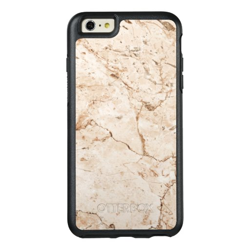 Brown Grain On Beige Marble OtterBox iPhone 6/6s Plus Case