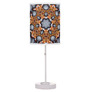 Brown Gray abstract colorburst accent table lamp
