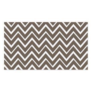 Brown gray whimsical zigzag chevron pattern Double-Sided standard business cards (Pack of 100)