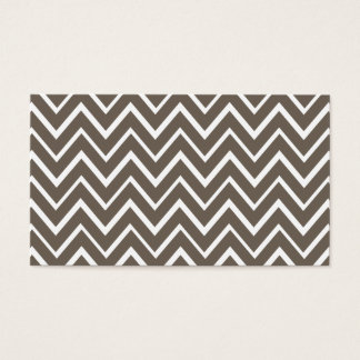Brown gray whimsical zigzag chevron pattern business card