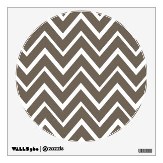 Brown gray whimsical zigzag chevron pattern wall decal