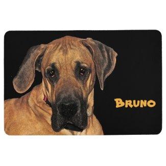 Brown Great Dane Dog Animal Floor Mat