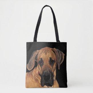 Brown Great Dane Dog Animal Tote Bag