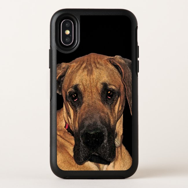Brown Great Dane Dog Pet OtterBox iPhone X Case