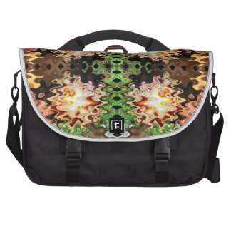 brown green abstract laptop bags