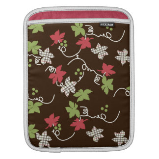 Brown, Green, and Pink Floral iPad Sleeve