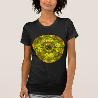 brown, green, and yellow stained glass rosette T-Shirt