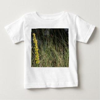 Brown green grass background design photo baby T-Shirt