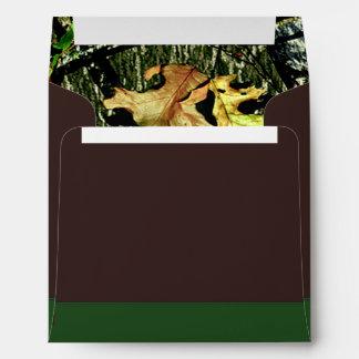 Brown & Green Hunting Camo Wedding Envelopes
