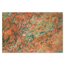 Brown & Green Marble Texture Print Tissue Paper