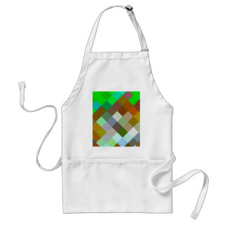 Brown Green Patterns Geometric Designs Color Adult Apron