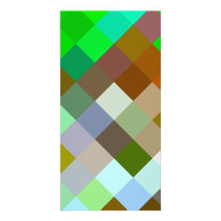 Brown Green Patterns Geometric Designs Color Card