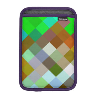 Brown Green Patterns Geometric Designs Color iPad Mini Sleeves