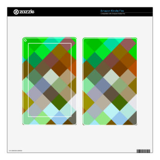 Brown Green Patterns Geometric Designs Color Kindle Fire Skin