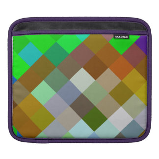 Brown Green Patterns Geometric Designs Color Sleeve For iPads