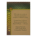 Brown, Green Striped Bar Mitzvah Enclosure Card Personalized Announcement