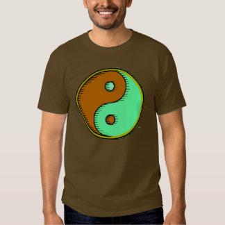 Brown Green Windblown Yin Yang Shirt