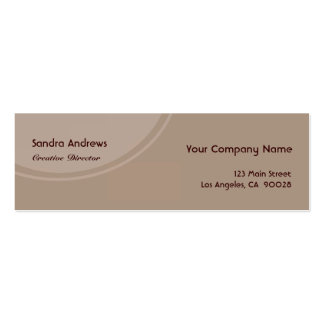 Brown Grey Circle Double-Sided Mini Business Cards (Pack Of 20)