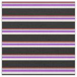 [ Thumbnail: Brown, Grey, Dark Orchid, Beige & Black Pattern Fabric ]
