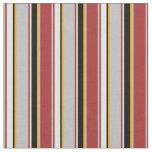 [ Thumbnail: Brown, Grey, Orange, Black, and Light Cyan Lines Fabric ]