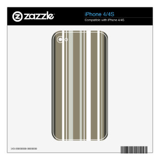 Brown & Grey Striped iPhone 4 Cover Decal For iPhone 4