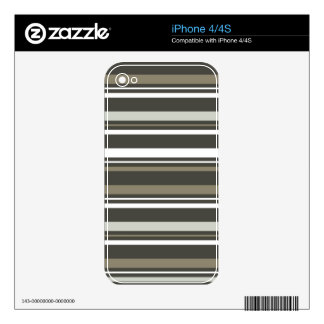 Brown & Grey Striped iPhone 4 Cover iPhone 4 Skin