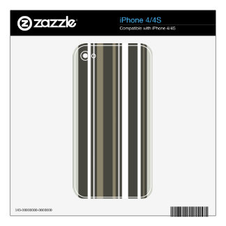 Brown & Grey Striped iPhone 4 Cover iPhone 4S Skin
