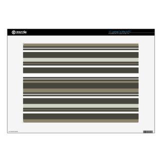 Brown & Grey Striped Laptop Skin