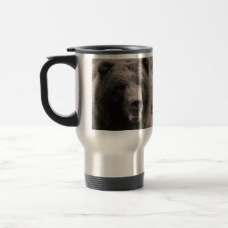 Brown Grizzly Bear Wildlife Photo 15 Oz Stainless Steel Travel Mug