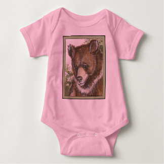 Brown Grizzly Cub Baby Bodysuit