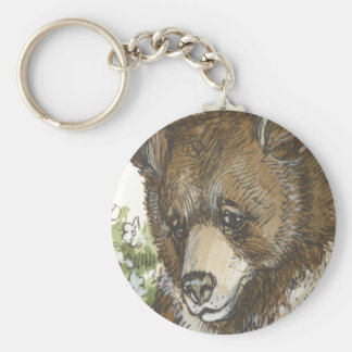 Brown Grizzly Cub Keychain