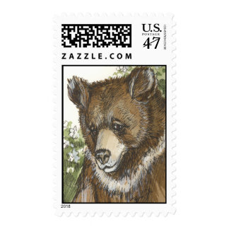 Brown Grizzly Cub Postage