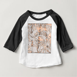 brown grunge abstract geometric pattern baby T-Shirt