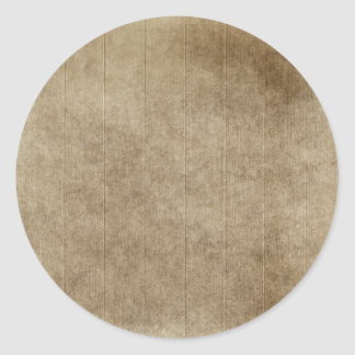 Brown Grungy Wood Classic Round Sticker