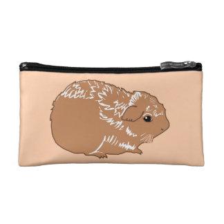 Brown Guinea Pig Creme Cosmetic Bag