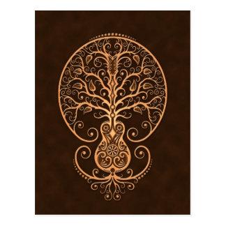 Brown Guitar Tree of Life Postcard