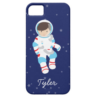 Brown Hair Astronaut in Space iPhone SE/5/5s Case