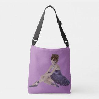 Brown Hair Ballerina All-Over-Print Cross Body Bag Tote Bag