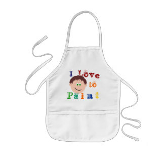 Brown Hair Boys Face Painting Apron