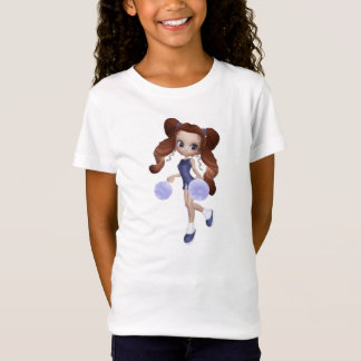 Brown Hair Cheerleader Baby Doll T-Shirt