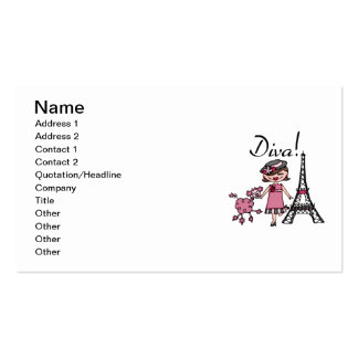 Brown Hair Diva Double-Sided Standard Business Cards (Pack Of 100)