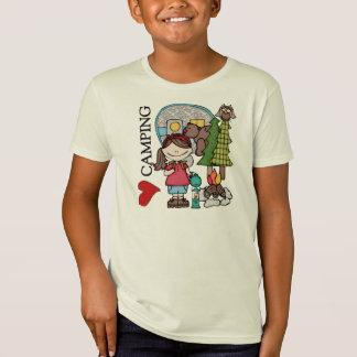Brown Hair Girl I Love Camping T-Shirt