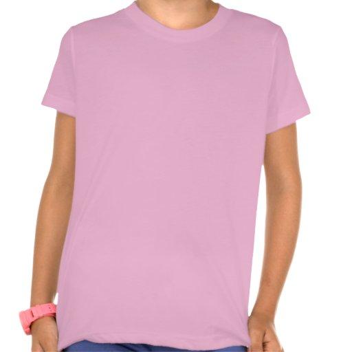 Brown Hair Girl I Love Camping T Shirts