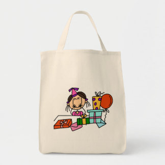 Brown Hair Girl With Birthday  Gifts T-shirts Tote Bag
