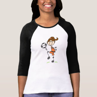 Brown Hair Girls Soccer T-shirt