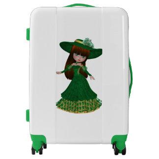 Brown Hair Irish Girl Medium Luggage Suitcase