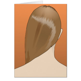 Brown Hair Lady Card
