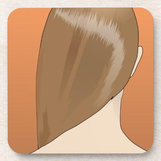 Brown Hair Lady Coaster